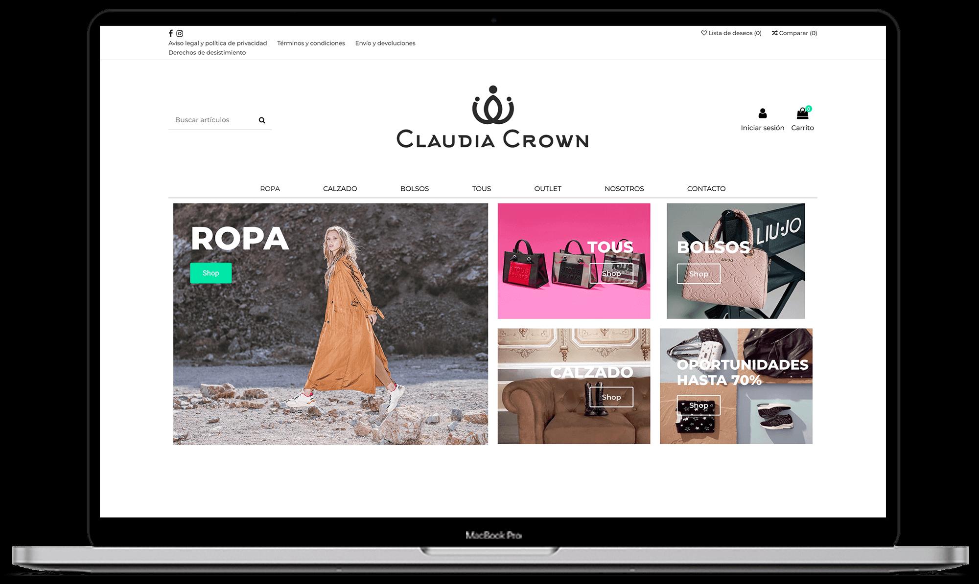 Claudia Crown diseño tienda online - Synapse   Smart technologies