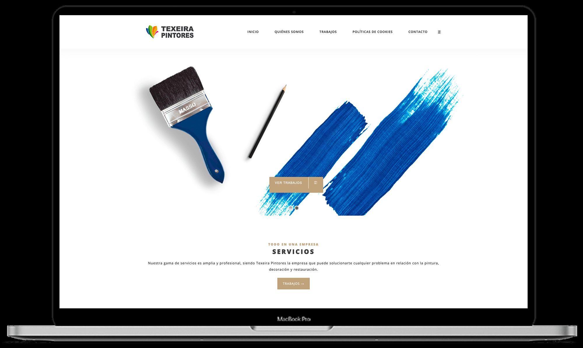 Texeira Pintores diseño web - Synapse   Smart technologies