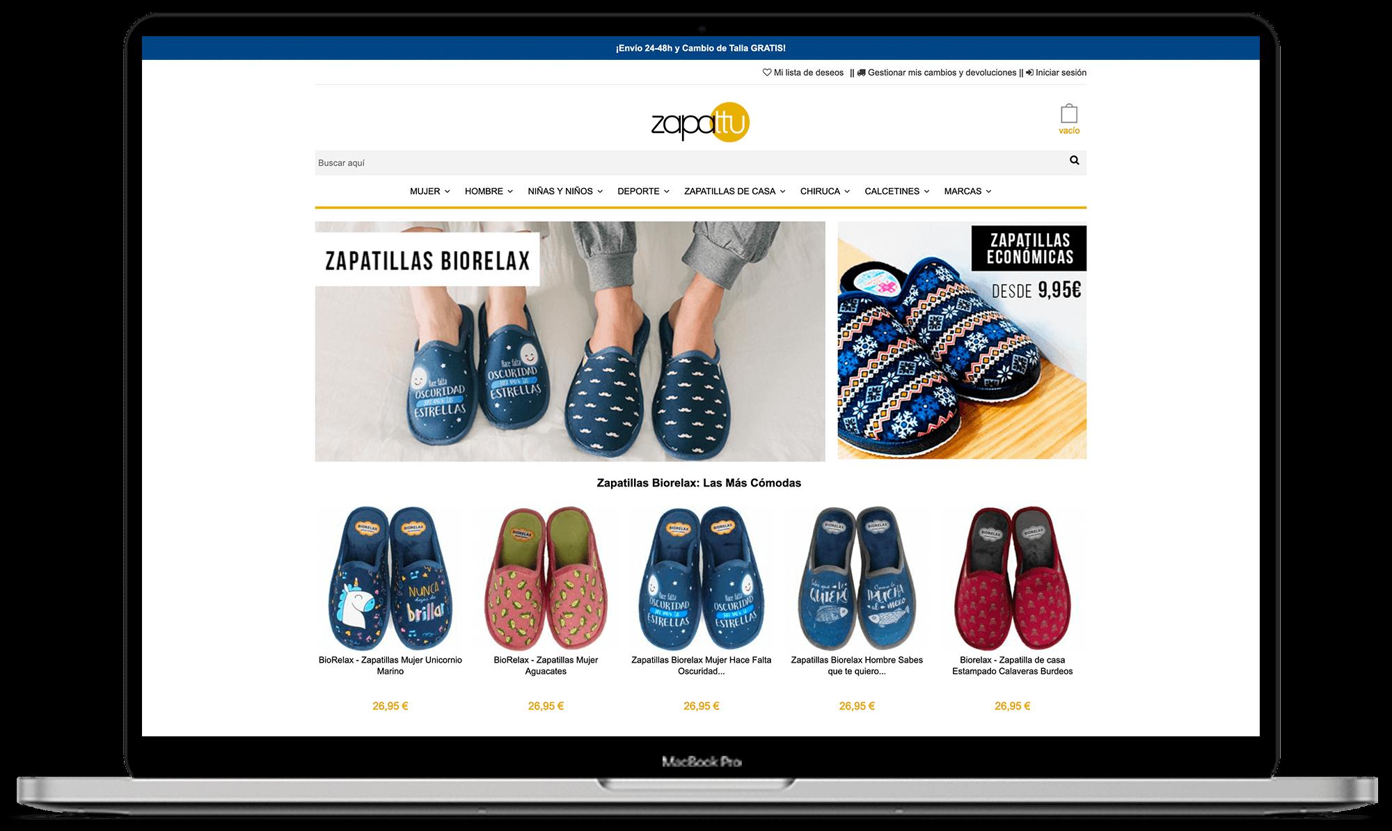 Zapattu diseño tienda online - Synapse   Smart technologies